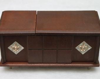 Vintage Radio Solid State Ross Mini Wood Console Radio / Storage Box – Working