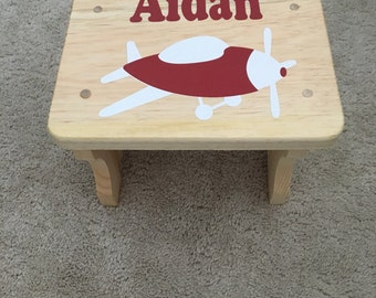 Wood Stool With Name Etsy