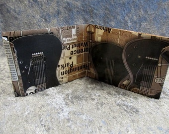 SALE Schecter Guitars Wallet DIY Upcycled Catalogue #3
