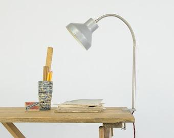 Vintage Industrial Polish Metal Clamp Desk Lamp