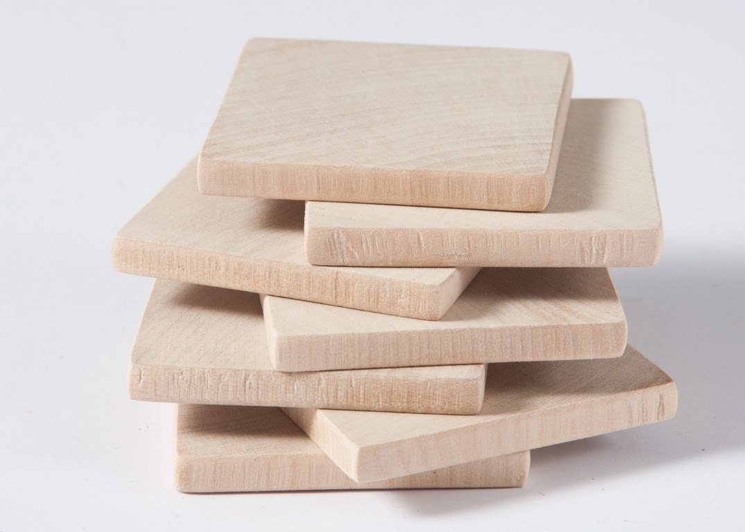10 pcs unfinished 1 3 4 4 5cm wood squares for wood for Wooden blocks craft supplies
