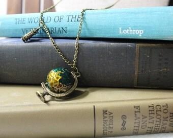 Gypsy Globe Wanderlust Necklace + Jewelry + Unique + Valentines Gift + Present + Twistedkross + Nashville + gypsy + Best friend + travel