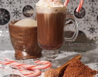 Merry Mint Gourmet Hot Chocolate - Peppermint Cocoa Mix - Organic - Vegan