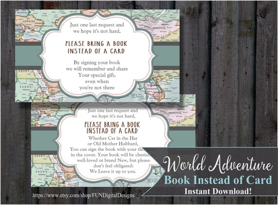 Book instead of card insert world map adventure hot air il570xn gumiabroncs Image collections