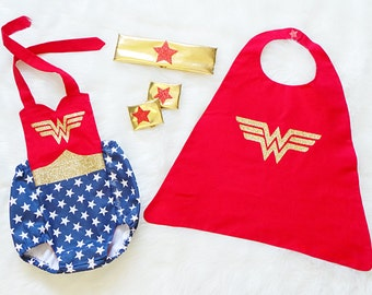 Wonder Woman Inspired Romper - ONLY