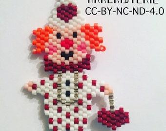 Mardi Gras clown pin