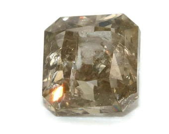 1 carat Loose Diamond stone, Natural Diamond Stone, Brown Diamond, Radiant cut natural diamond