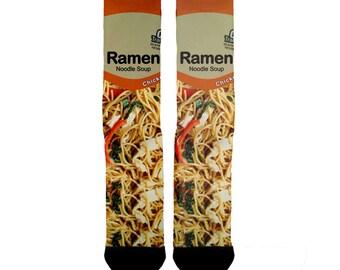 Chicken Ramen Noodle Socks