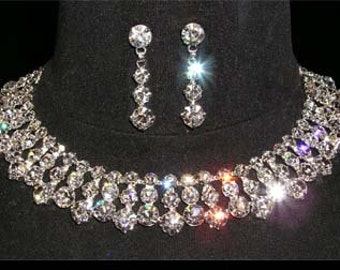 Style # 14641 Chunky Stone Collar Necklace Set