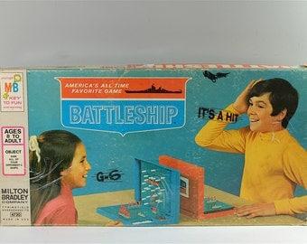 Vintage game of Battleship, Vintage Milton Bradley Board Game 1971 - Battleship boardgame - Retro boardgame