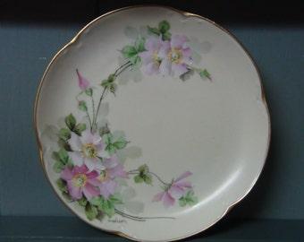 Wonderful JHR Alice Bavaria Signed Hand Painted Plate