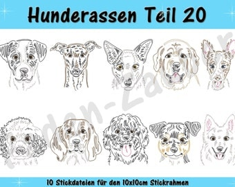 Dog breeds part 20 for the border 10x10cm