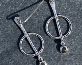 sterling silver dangle earrings with french ear wires