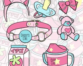 DDLG / DDLB Little Fetish Sticker Pack