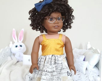 18 inch doll Paris spaghetti strap dress