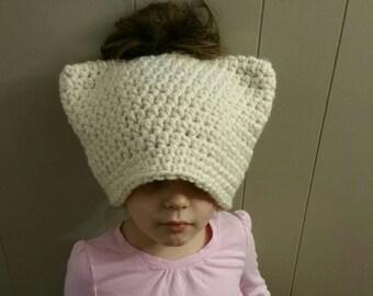 Adult cat bun hat