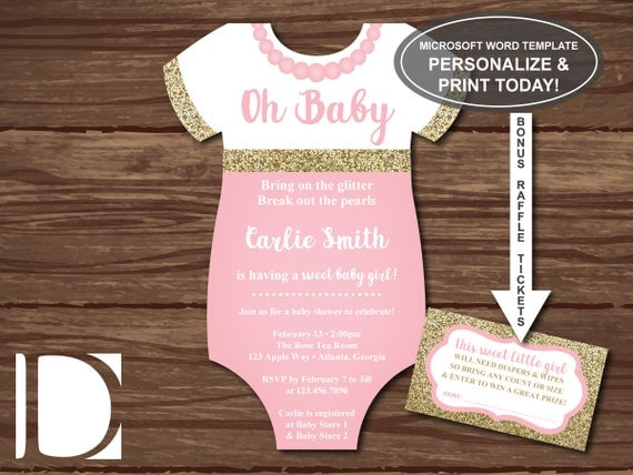 oh baby shower invitation onesie invitation by dereimerdesign
