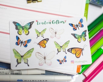 Butterflies - decorative watercolour planner stickers suitable for any planner -252-