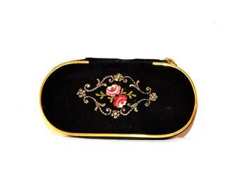 Vintage Mini Travel Grooming Kit / Vintage 1950's Mid Century Mini Manicure Case / Mini Travel Vanity Case / Small Travel Size Manicure Set