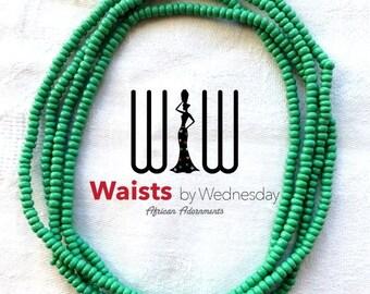 Prosperity Green African Waist Beads