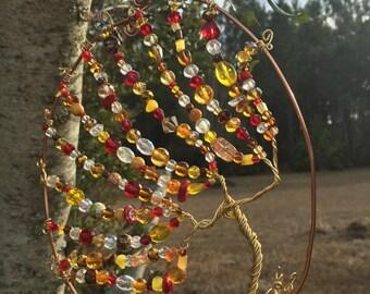 Wire bead sun catcher