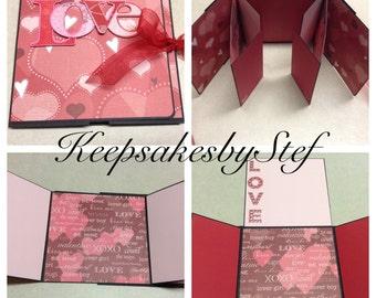 Love Photo Album - Valentine's Photo Album - Flip Fold photo album