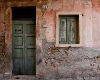 Glimpse of Sicilian village-at number 30, Sicily, Italy. Photographic print. Rustic. Photography.