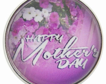 C0675 Happy Mothers Day Art Glass Print Chunk