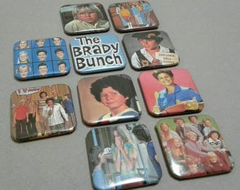 Custom Magnets, The Brady Bunch, Fridge Magnets, Magnet Set, Retro TV, Brady