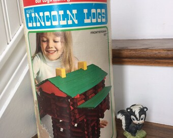 Lincoln Logs, Playskool Original, Made in USA, Vintage Building Toy