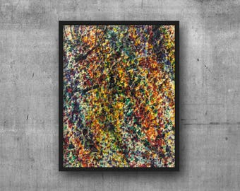 "Original Acrylic Painting - Contemporary Highly-Textured, Palette-Knife Rainbow-Colored Abstract Art on Stretched Canvas - 8"" x 10"""