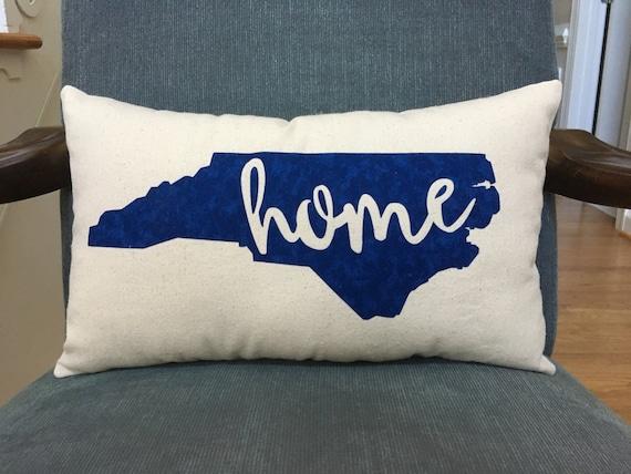 North Carolina pillow, home state pillow, state appliqué pillow, home pillow