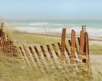 Beach Fence Florida coastal Photography Atlantic seascape Nautical art photo
