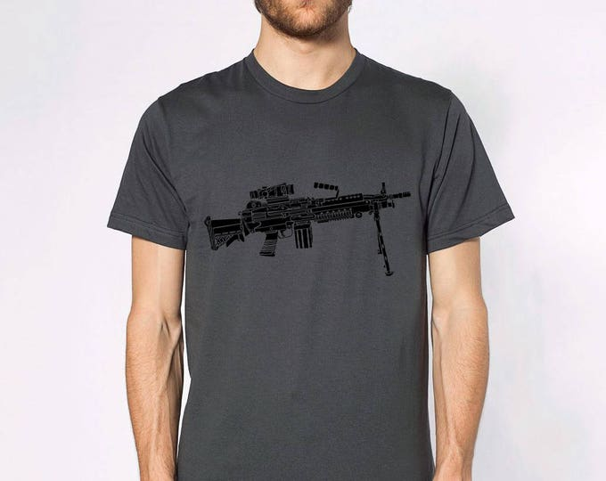 KillerBeeMoto: Limited Release M249 LMG Light Machine Gun Short or Long Sleeve T-Shirt