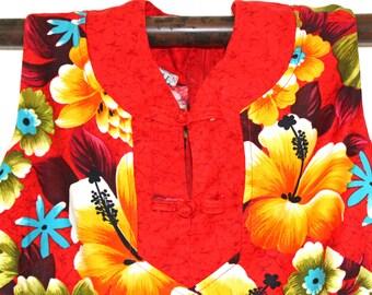 Ladies Hawaiian Print Long Dress, Sundress, Hawaii, Hawaiian, Tropical, Beach Clothes, Vacation, Tropical Print,