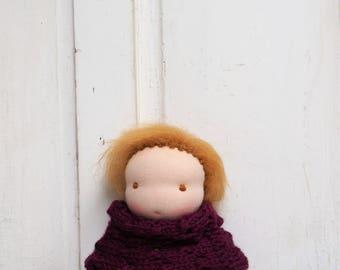 """handmade steiner doll * 8"""" waldorf * little Kra * vintage & organic *"""