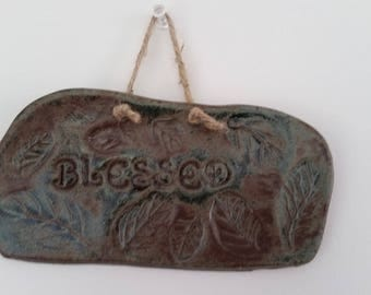 Blessed: Inspirational Ceramic Wall Hanging