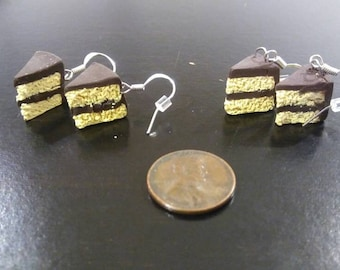Yellow Cake Earrings