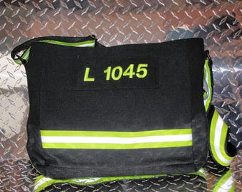 "The ""Dispatch""bag, firefighter turnout / bunker gear tote, messenger,purse, carryall, computer bag"