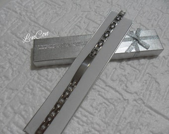 Men's Bracelet boy in  Steel with Custom engraving of the name or initials Gift for him S. Valentine day
