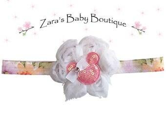 Minnie Mouse Headband * Flower Headband * Disney Headband * Girls *  Toddler * Baby * Zara's Baby Boutique