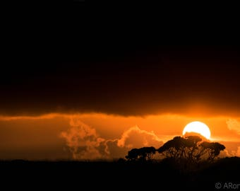 Behind the courtain - landscape - photography - print - sunset - horizon