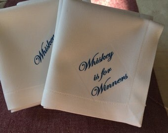 Funny cocktail napkins: Whiskey is for Winners (set of 8)