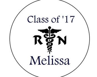 108 324 648 Personalized Graduation Grad Class of 2017 Candy Chocolate Kisses Kiss Labels RN Registered Nurse Grad