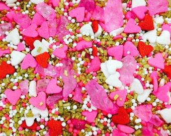 Tickle Me Gold Custom Valentine's Sprinkles