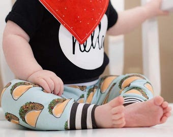 Tacos Baby Leggings/Boy Leggings/Girl Leggings/Taco Headband
