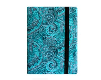 Kindle Paperwhite Cover, Kindle Paperwhite Case, Kindle Cover Hardcover, Kindle Case, Kindle Book, Turquoise Paisley Polka Dots
