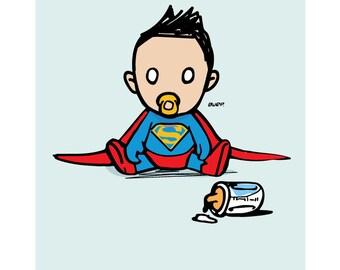 Printable Super hero baby