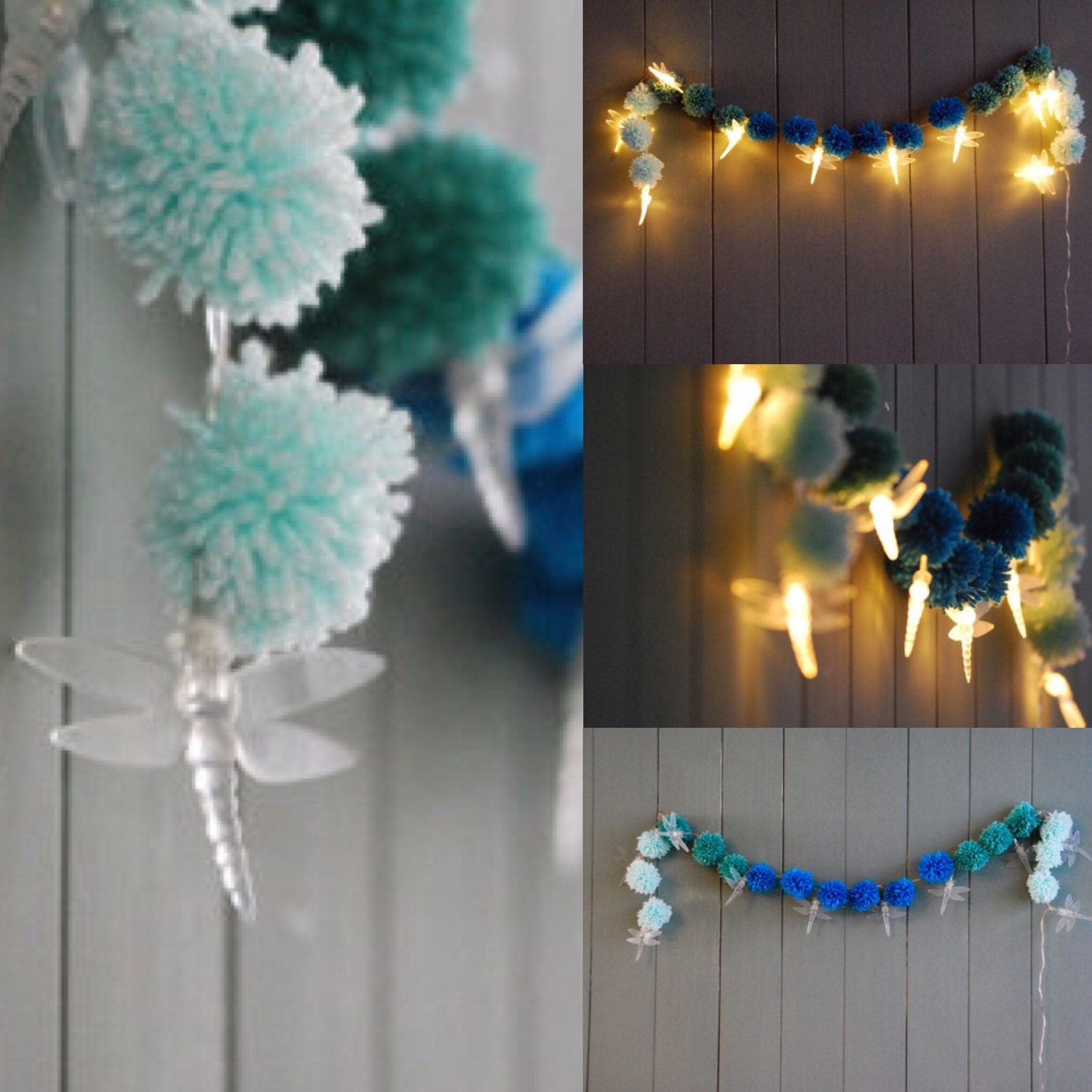 String Led Lights For Bedroom : Dragonfly String Lights Bedroom Fairy Lights LED String