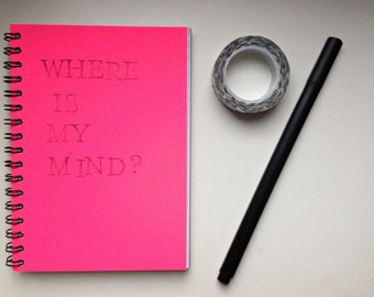 notebook notepad art journal junk journal smashbook neon pink upcycling DIN A6